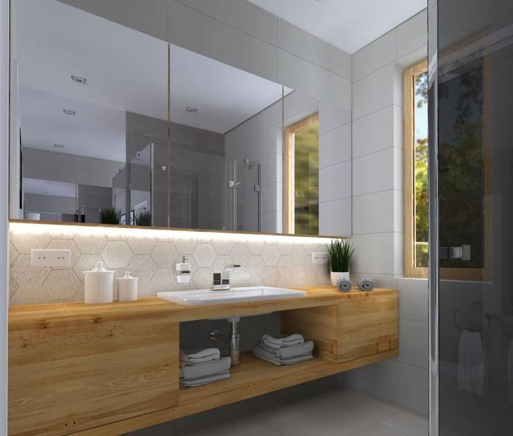 modern Bathroom by KADA WNĘTRZA S.C.