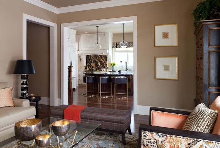 Supremely Sophisticated: classic Living room by Andrea Schumacher Interiors