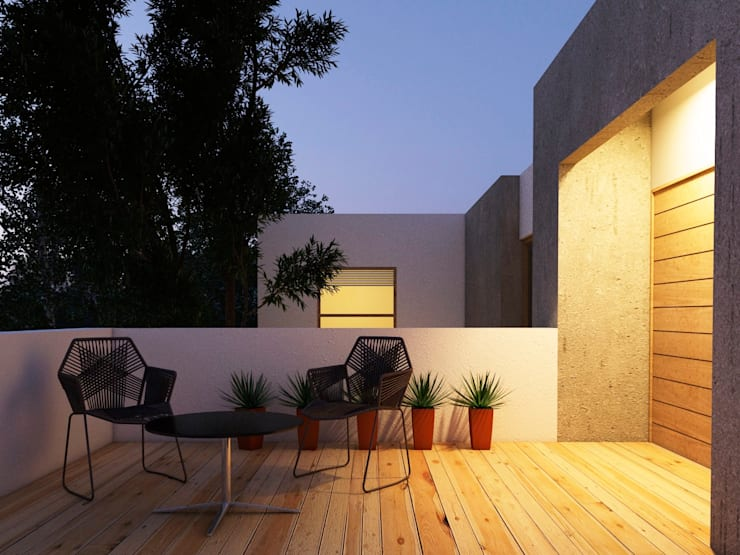 Proyecto MT:  de estilo  por Rodríguez + Zermeño Arquitectura y Construcción S.A. de C.V.