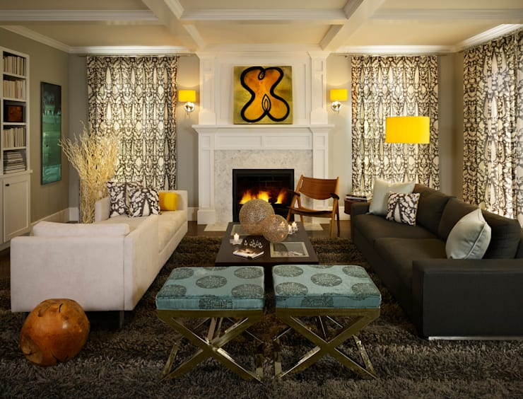 Cherry Creek Home: eclectic Living room by Andrea Schumacher Interiors