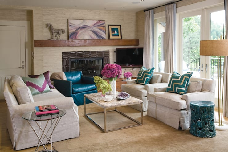 Greenwood Village Home:  Media room by Andrea Schumacher Interiors