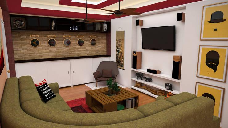 Salas de estilo  por Rbritointeriorismo