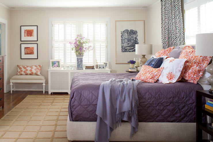 Denver Country Club Home:  Bedroom by Andrea Schumacher Interiors