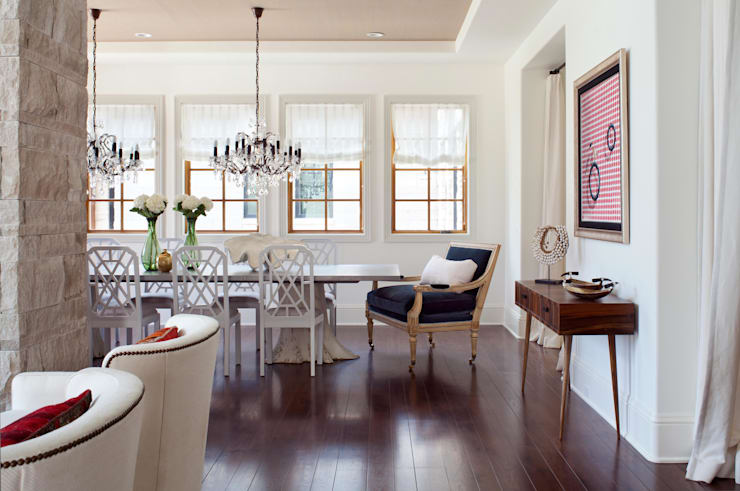 Buell Mansion Remix:  Dining room by Andrea Schumacher Interiors