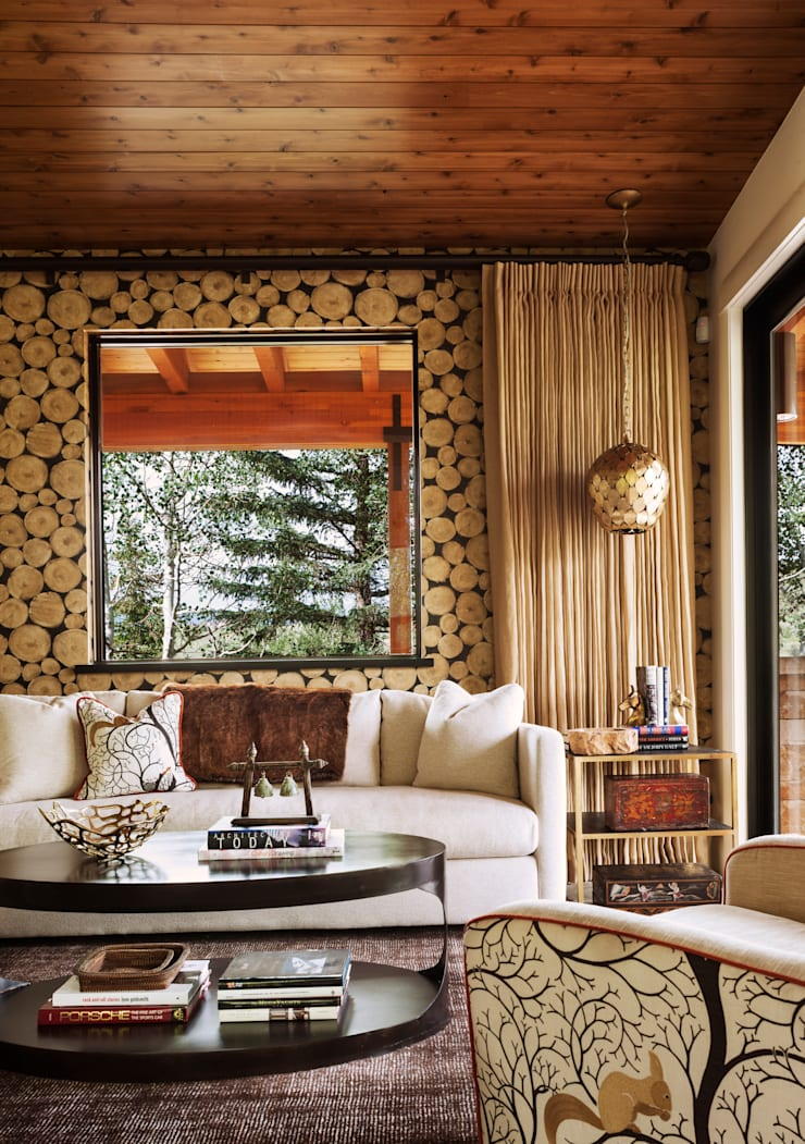 Vail Valley Retreat:  Media room by Andrea Schumacher Interiors