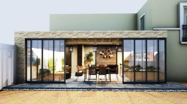 TERRAZA: Balcones y terrazas de estilo  por PROYECTARQ | ARQUITECTOS