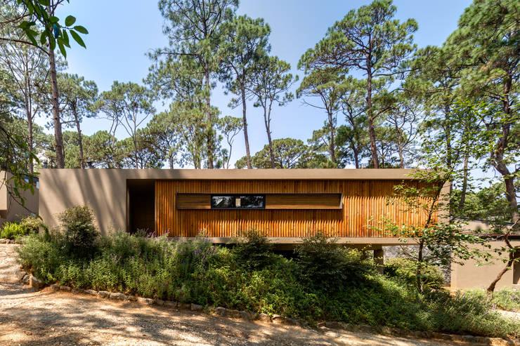 Fachada de acceso - Casa 2: Casas de estilo  por Weber Arquitectos