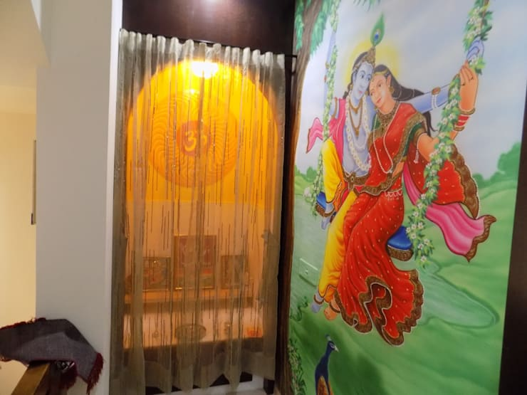 POOJA ROOM :  Artwork by Hinal Dave