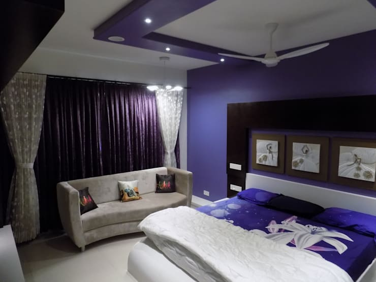 Master Bedroom: modern  by Hinal Dave,Modern