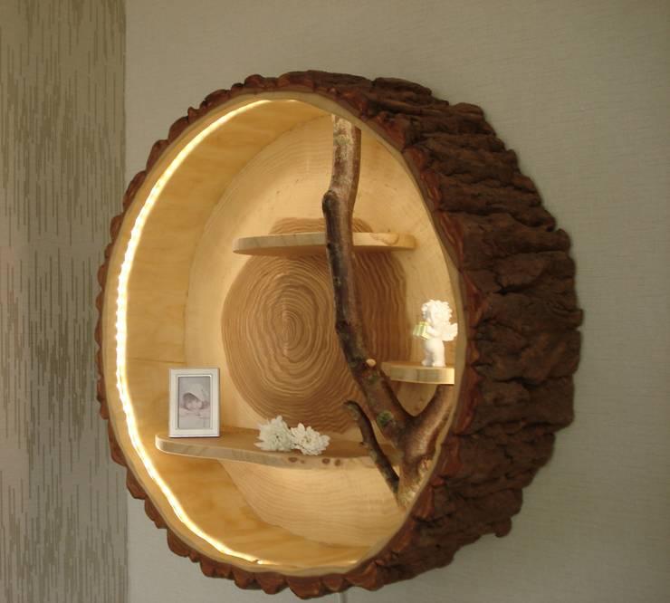 Baumstamm deko Holzlampe - Holzregal von Holzbau Bohse | homify