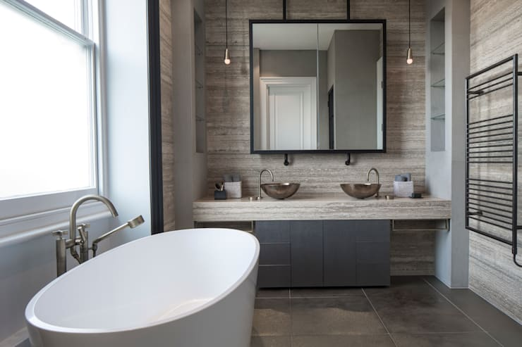 Bathroom - Belsize Park:  Bathroom by Roselind Wilson Design