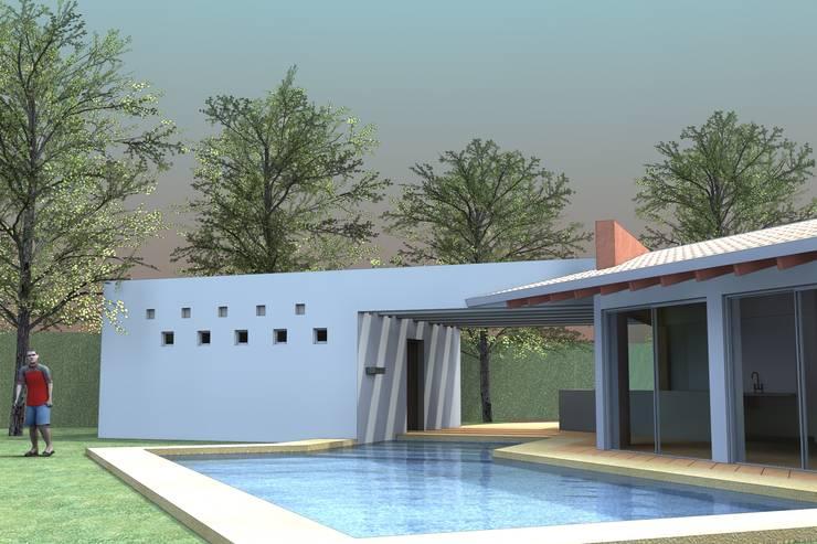PALAPA TENEXTEPEC: Jardines de estilo  por AD+d