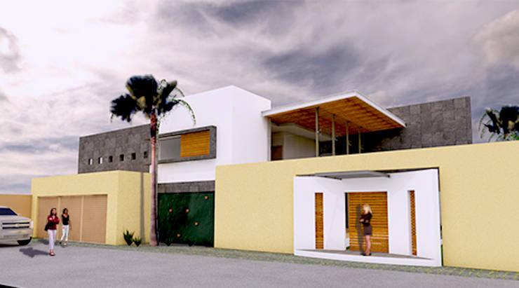 VISTA EXTERIOR: Casas de estilo  por AD+d