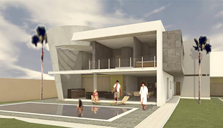 FACHADA POSTERIOR: Casas de estilo  por AD+d