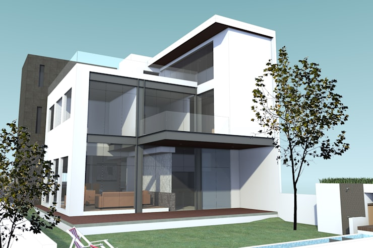 EXTERIOR JARDIN CASA MP: Casas de estilo  por AD+d