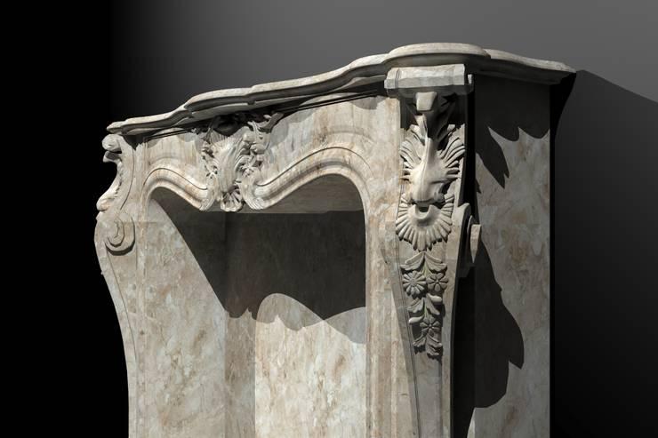 Göknur Ağaç Sanat Mad. İnş. San. Tic. Ltd. Şti. – Fireplace :  tarz İç Dekorasyon