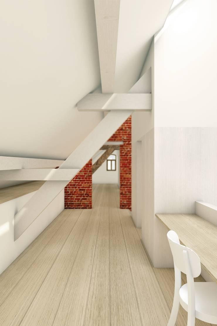 Industrial corridor, hallway & stairs by De Nieuwe Context Industrial