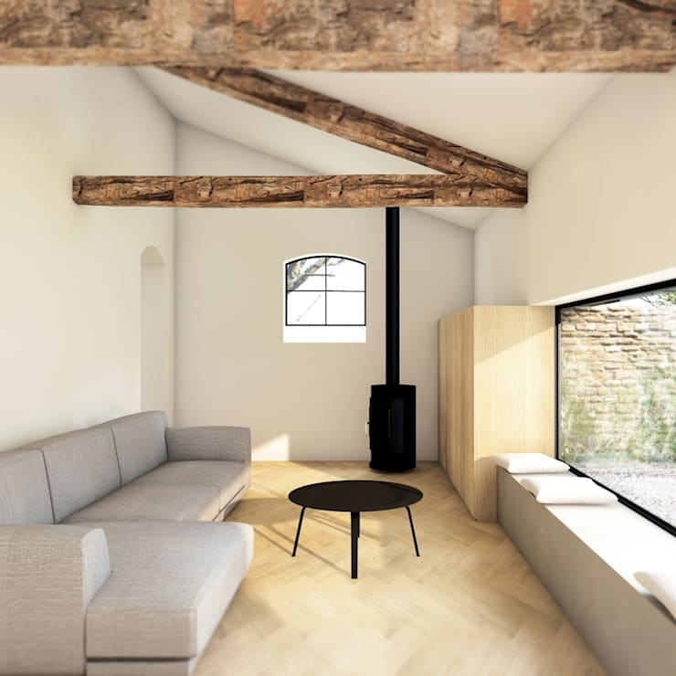 Living room by De Nieuwe Context, Industrial
