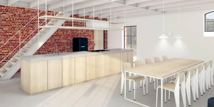 Industrial style kitchen by De Nieuwe Context Industrial