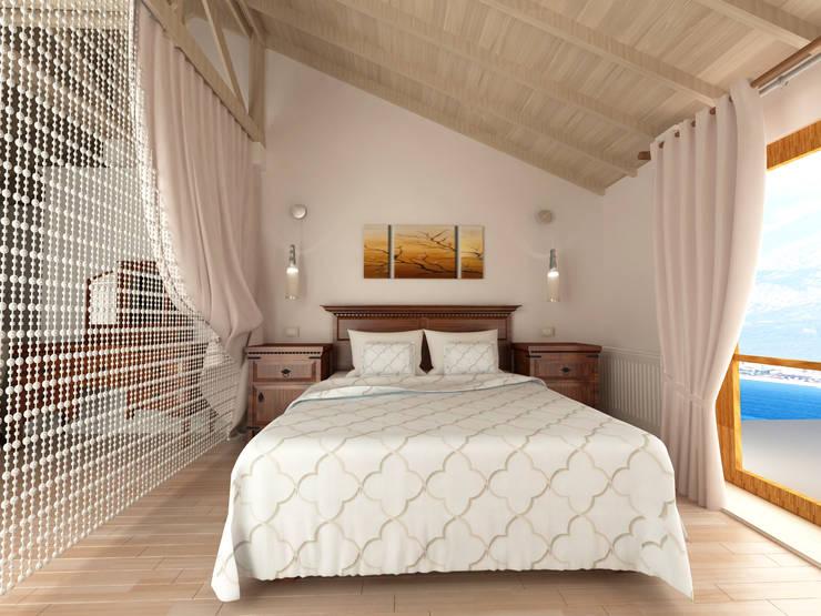 Kalya Interior Design – Antalya'da bir Konut Projesi:  tarz Yatak Odası