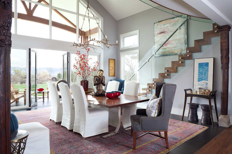 Elegant Modern and Timeless:  Dining room by Andrea Schumacher Interiors