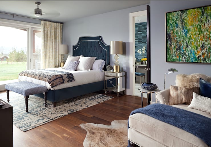 Elegant Modern and Timeless:  Bedroom by Andrea Schumacher Interiors