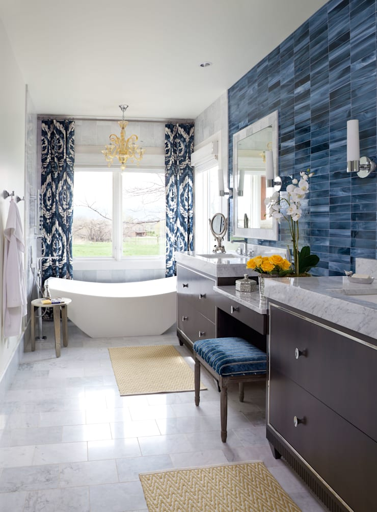 Elegant Modern and Timeless:  Bathroom by Andrea Schumacher Interiors