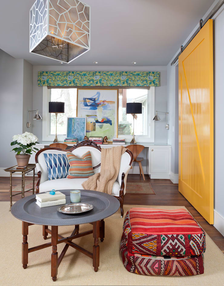 Elegant Modern and Timeless:  Media room by Andrea Schumacher Interiors