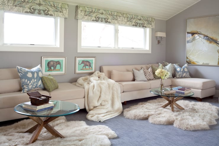 Elegant Modern and Timeless: classic Media room by Andrea Schumacher Interiors