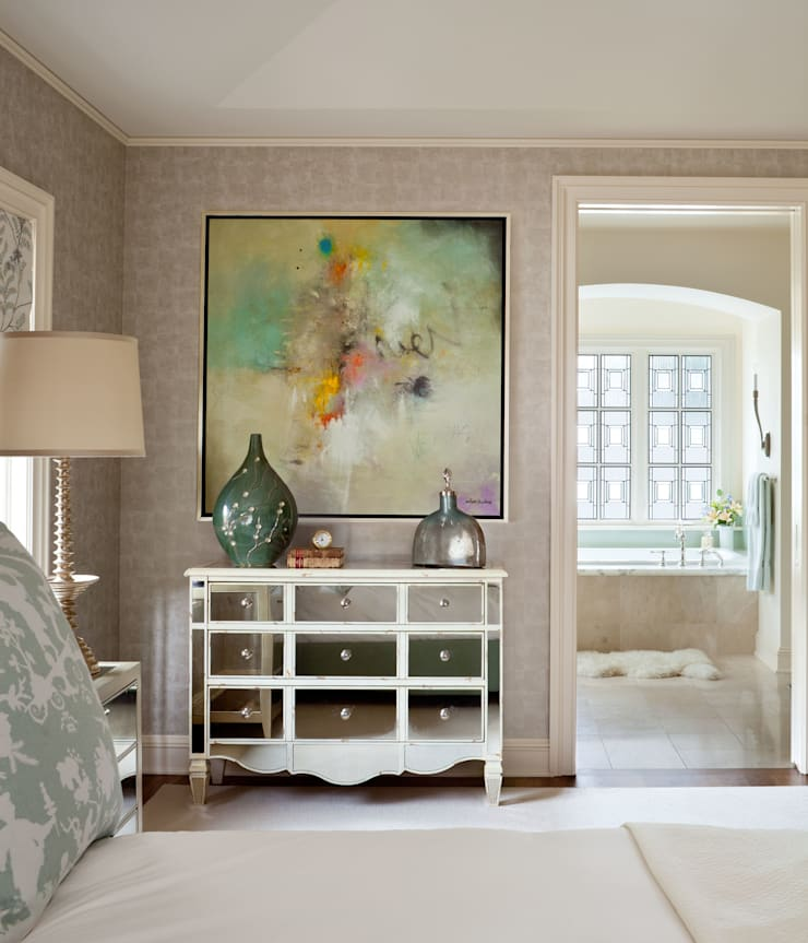 Cherry Creek Traditional with a Twist:  Bedroom by Andrea Schumacher Interiors