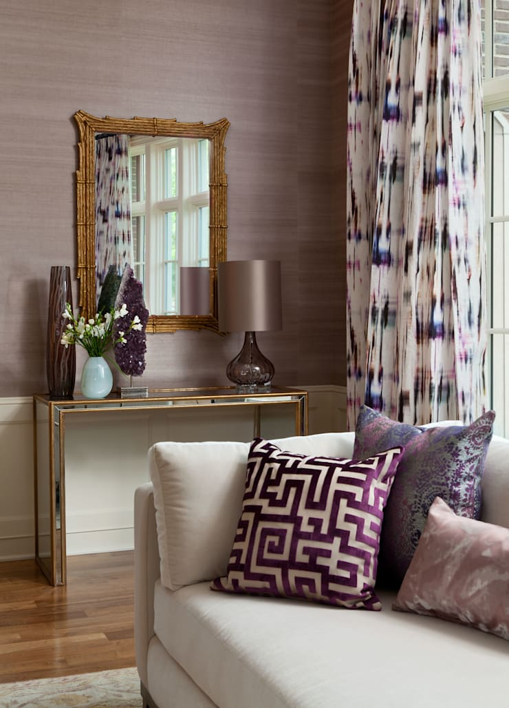 Cherry Creek Traditional with a Twist:  Living room by Andrea Schumacher Interiors