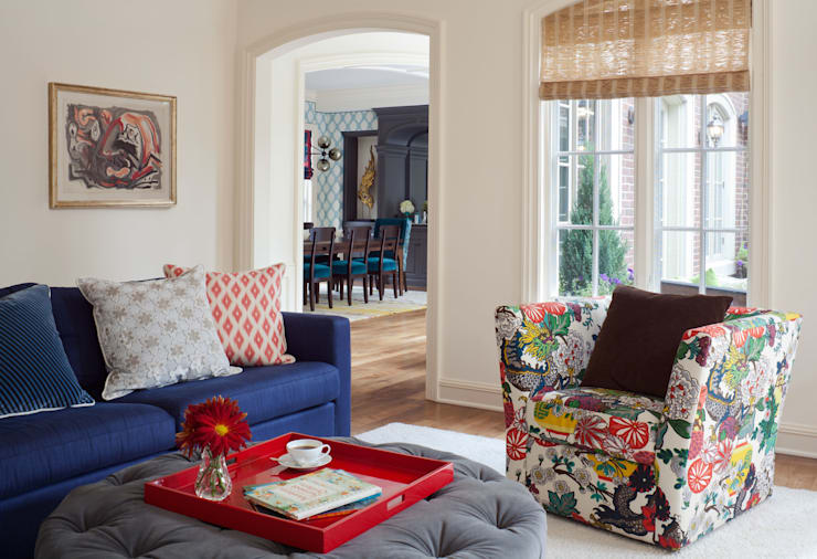 Cherry Creek Traditional with a Twist: eclectic Media room by Andrea Schumacher Interiors