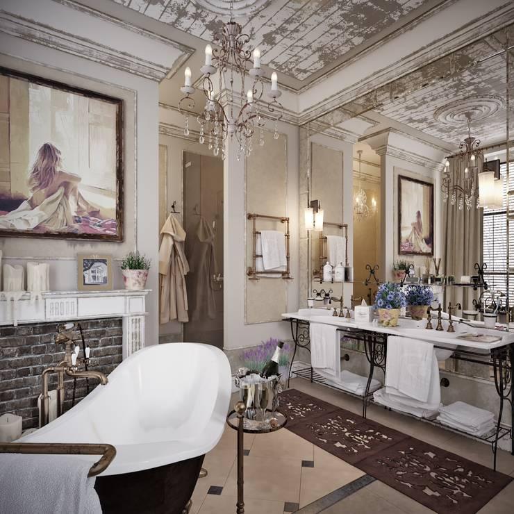 Рублевcкий шебби шик: Ванные комнаты в . Автор – D-SAV     ДИЗАЙН ИНТЕРЬЕРА И АРХИТЕКТУРА