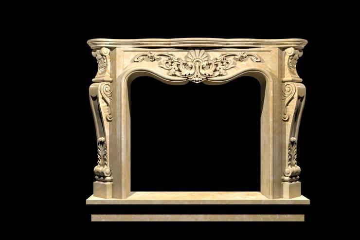 Göknur Ağaç Sanat Mad. İnş. San. Tic. Ltd. Şti. – Fireplace-2:  tarz , Klasik Mermer