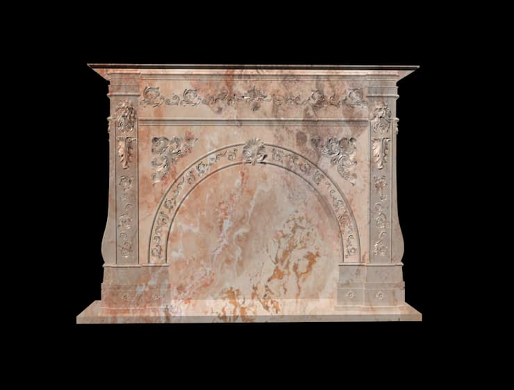 Göknur Ağaç Sanat Mad. İnş. San. Tic. Ltd. Şti. – Fireplace-3:  tarz , Klasik Mermer