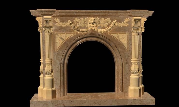 Göknur Ağaç Sanat Mad. İnş. San. Tic. Ltd. Şti. – Fireplace-4:  tarz , Klasik Mermer