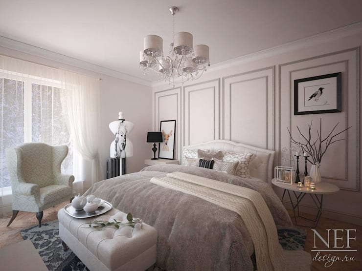 Спальня Бэмби: Спальни в . Автор – Юлия Паршихина, Лофт