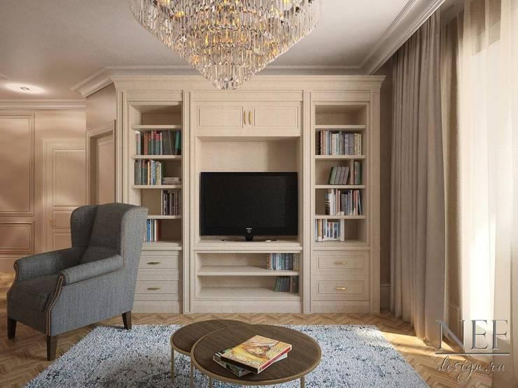 Квартира в американском стиле: Гостиная в . Автор – Юлия Паршихина, Лофт
