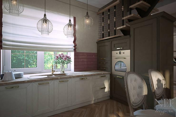 Кухня-гостиная. Коттедж: Кухни в . Автор – Юлия Паршихина,