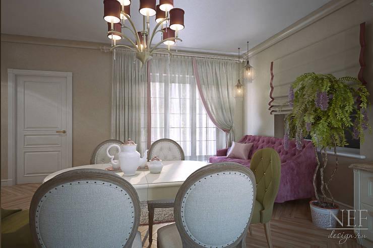 Кухня-гостиная. Коттедж: Столовые комнаты в . Автор – Юлия Паршихина,