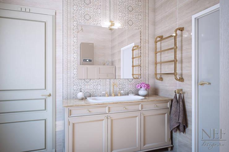 Санузел. Коттедж: Ванные комнаты в . Автор – Юлия Паршихина