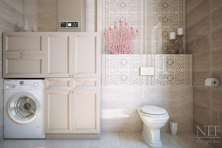 Санузел. Коттедж: Ванные комнаты в . Автор – Юлия Паршихина,