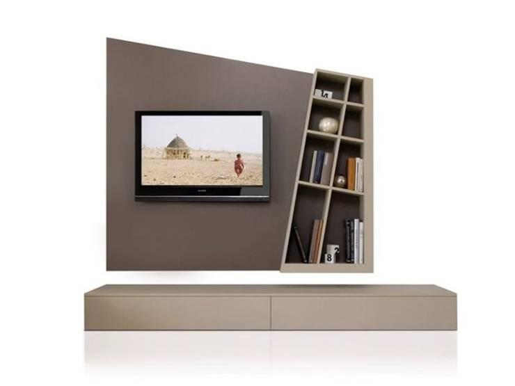 MODELO 3A  - MUEBLE DE PARED HOME THEATER: Salas de entretenimiento de estilo  por 3 DECO, Minimalista Compuestos de madera y plástico