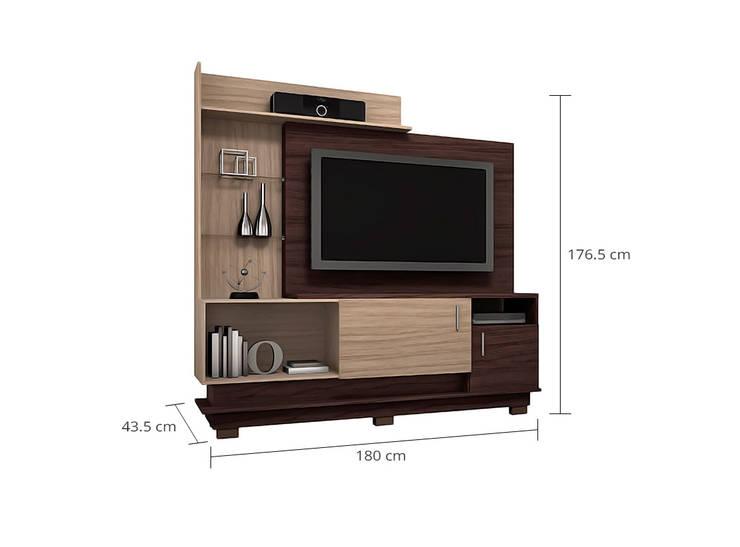 MODELO 1A  - MUEBLE DE PARED HOME THEATER: Salas de entretenimiento de estilo  por 3 DECO, Minimalista Compuestos de madera y plástico
