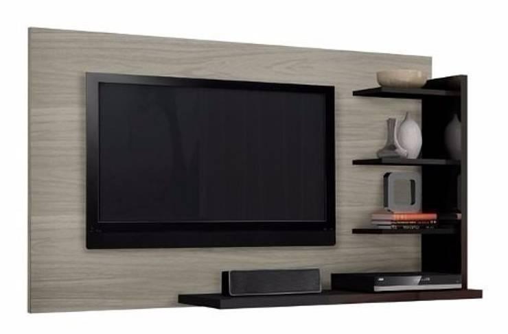 MODELO 8A  - MUEBLE DE PARED HOME THEATER: Salas de entretenimiento de estilo  por 3 DECO, Minimalista Compuestos de madera y plástico