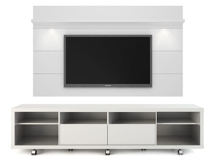 MODELO 9A  - MUEBLE DE PARED HOME THEATER: Salas / recibidores de estilo  por 3 DECO