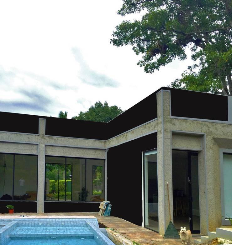 Fase 2 (piscina): Casas de estilo moderno por Vertice Oficina de Arquitectura