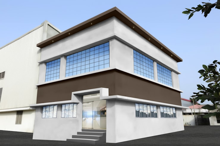 Factory Elevation:  Office buildings by ZEAL Arch Designs,Modern