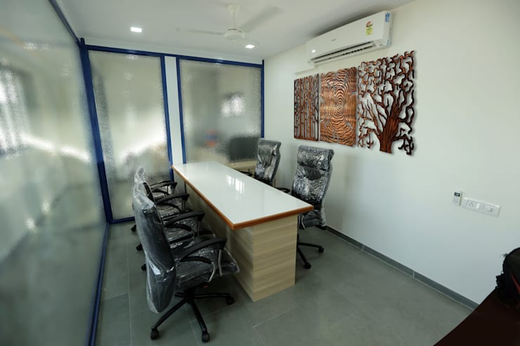 Director Cabin:  Office buildings by ZEAL Arch Designs,Modern