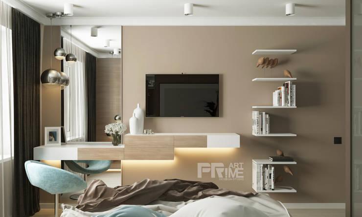 Квартира-студия в современном стиле: Спальни в . Автор – 'PRimeART'